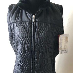 NWT Marker Puffer Vest w/Fur Collar - Sz L